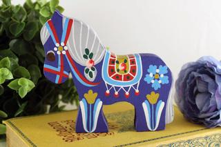 デンマーク製ハンドペイントの木馬