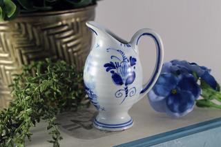 【オランダ製】デルフト陶器の壺